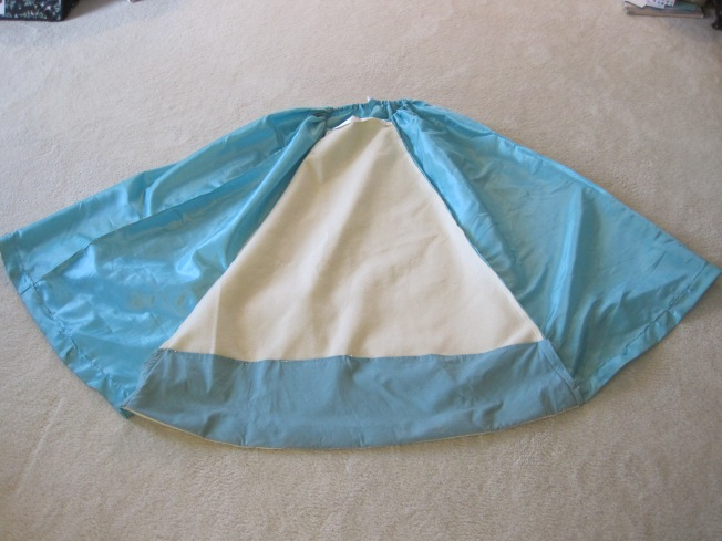 Inside-out showing hem facing
