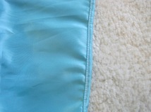 rolled-hem edge on a seam